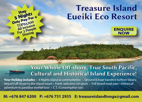 Tonga hot deal treasure island